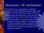 mechanism nf k b activation