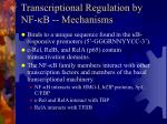 transcriptional regulation by nf b mechanisms