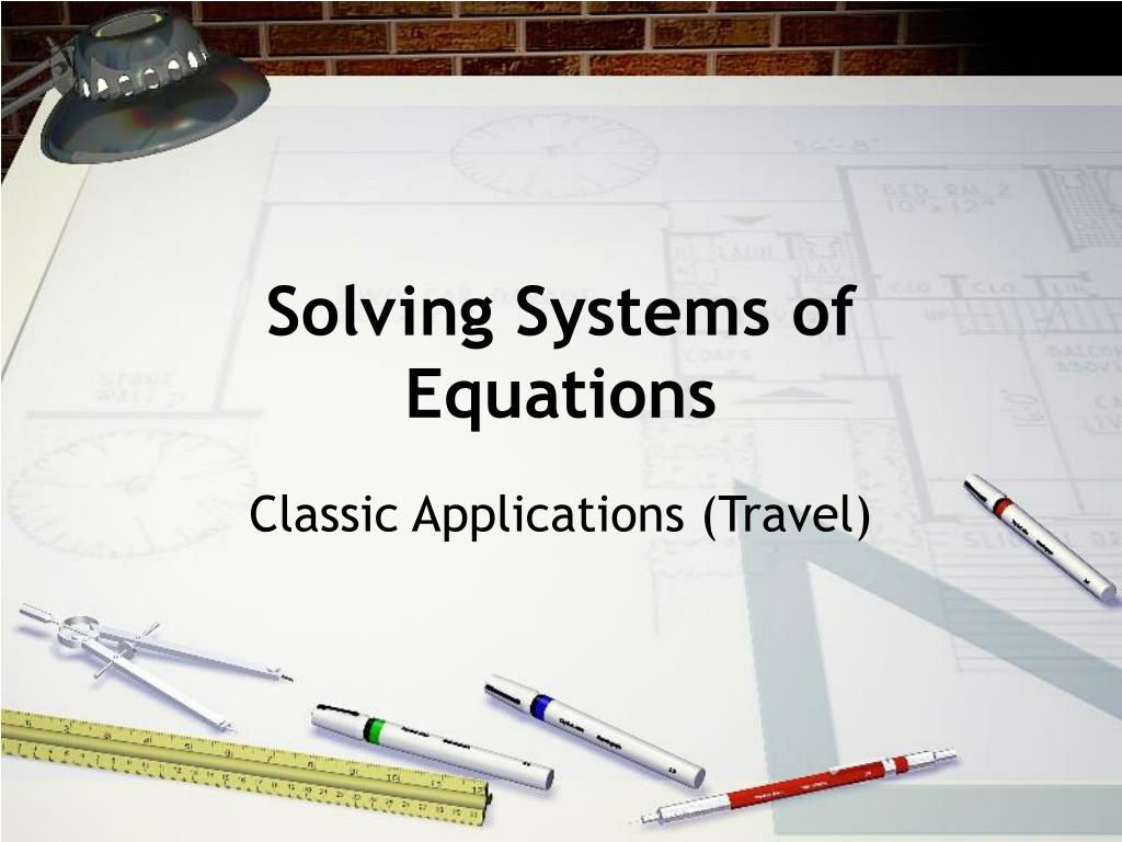 solving systems of equations l.