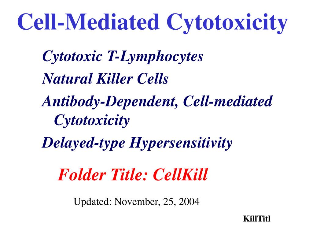 cell mediated cytotoxicity l.
