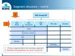 segment structure cont d