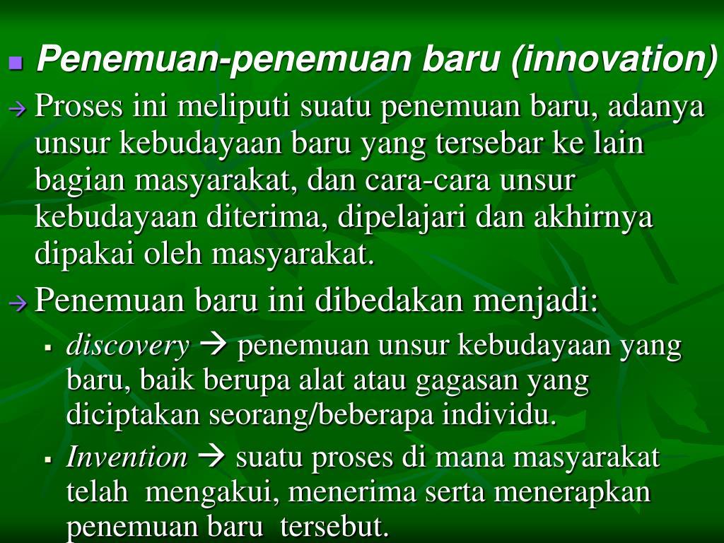 PPT - PERUBAHAN KEBUDAYAAN PowerPoint Presentation, free ...