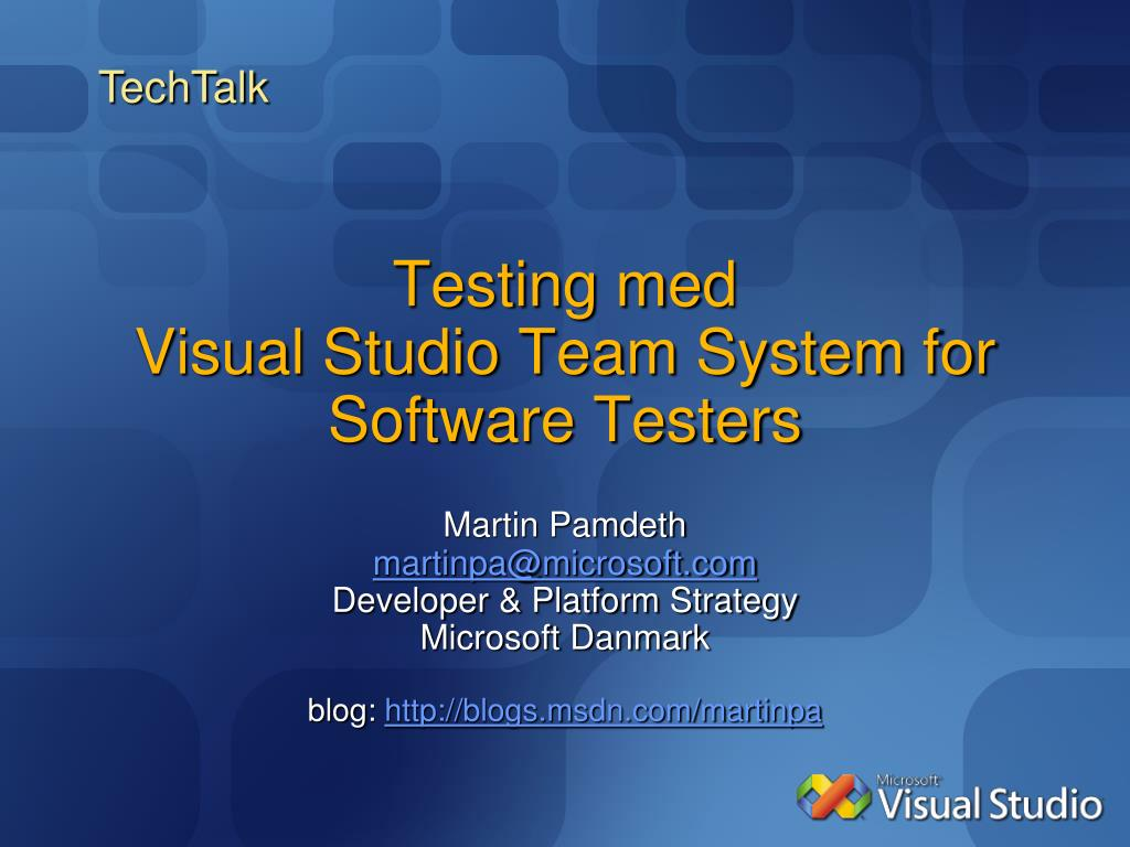testing med visual studio team system for software testers l.