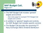 naf budget call page 2 of 7
