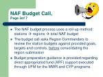 naf budget call page 3of 7