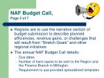 naf budget call page 5 of 7