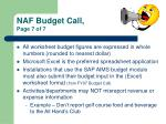 naf budget call page 7 of 7