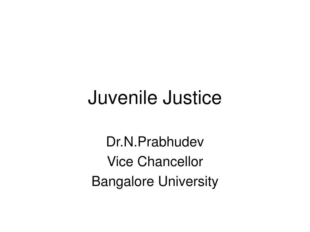 juvenile justice l.