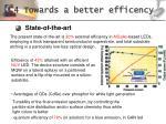 4 towards a better efficency
