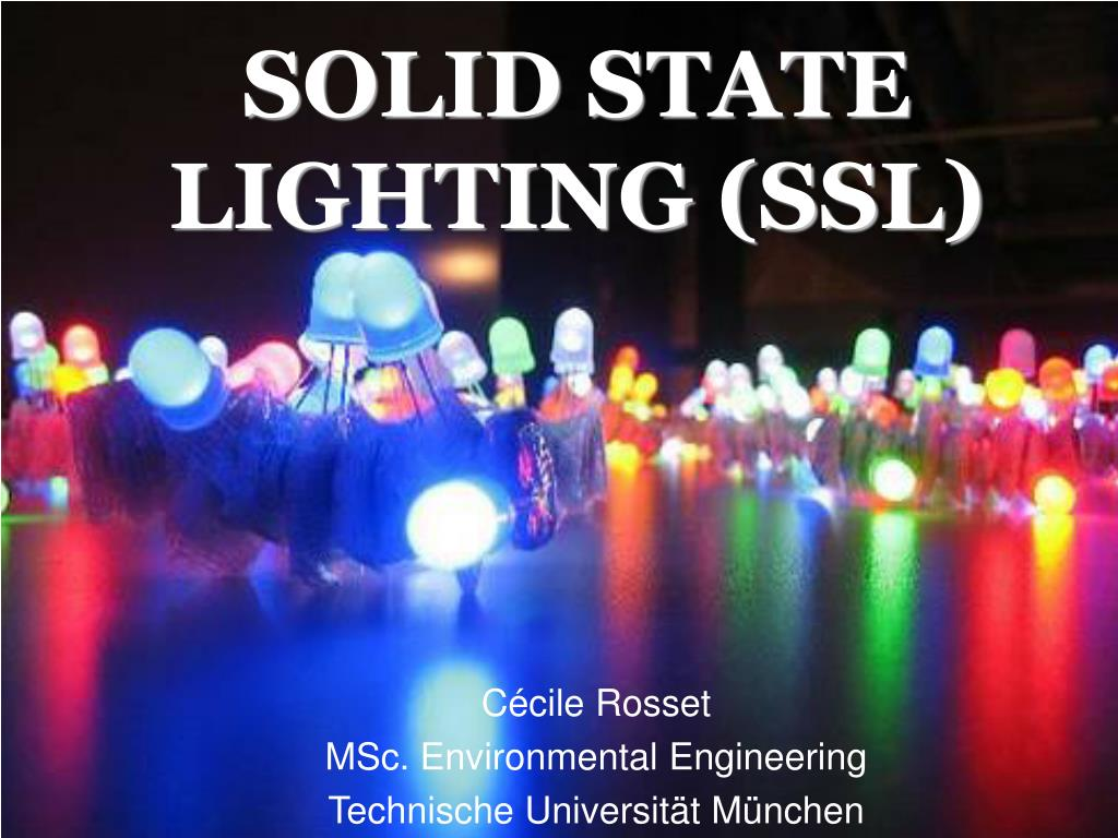 solid state lighting ssl l.