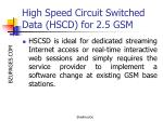 high speed circuit switched data hscd for 2 5 gsm30