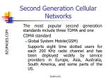 second generation cellular networks12