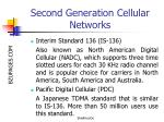 second generation cellular networks13