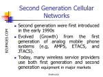 second generation cellular networks15