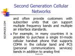 second generation cellular networks16