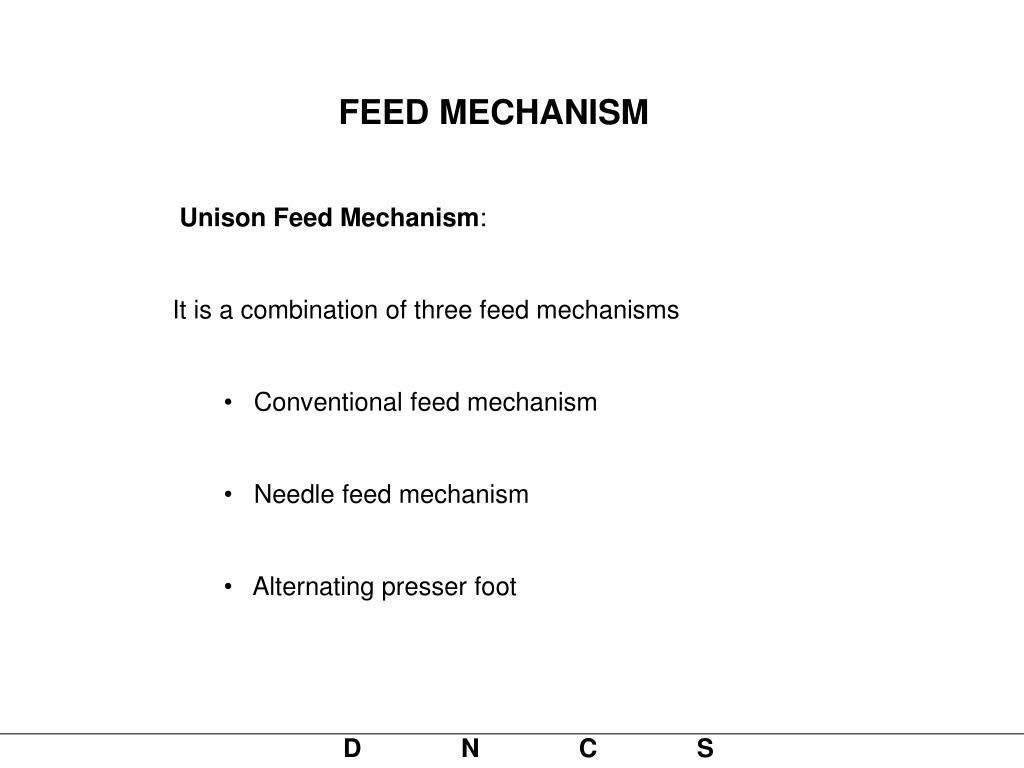 FEED MECHANISM