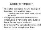 concerns impact