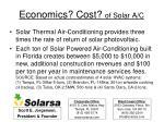 economics cost of solar a c