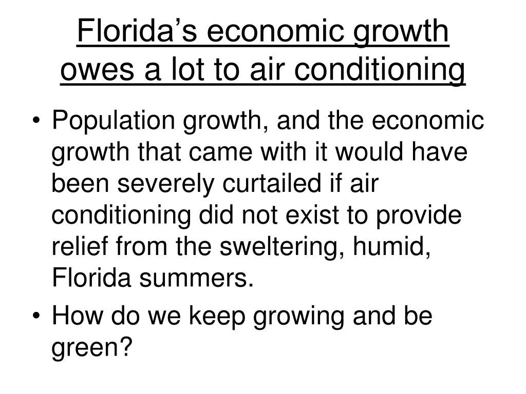 florida s economic growth owes a lot to air conditioning l.