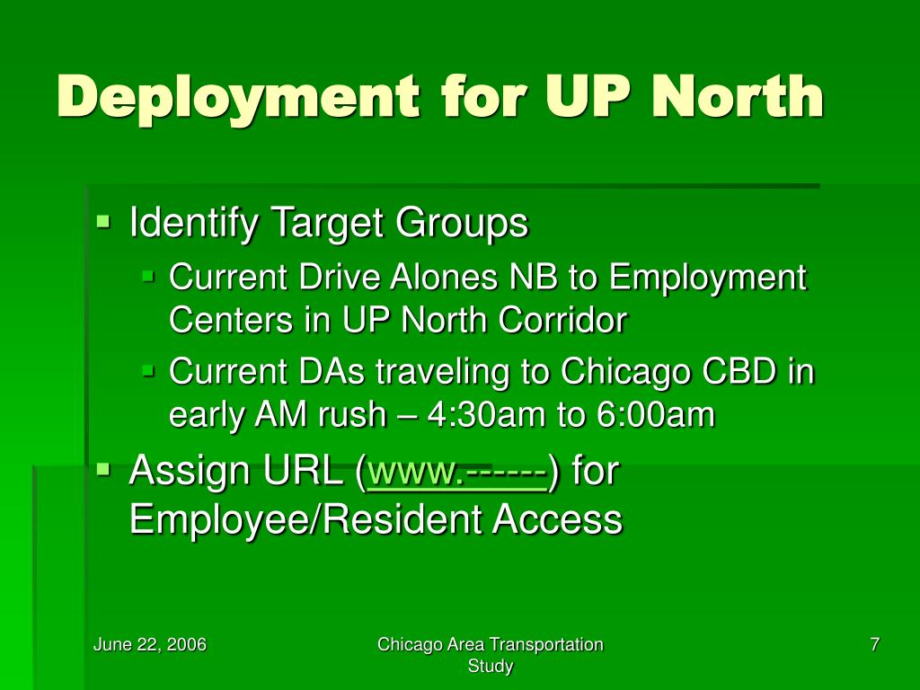 Deployment for UP North