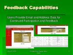 feedback capabilities
