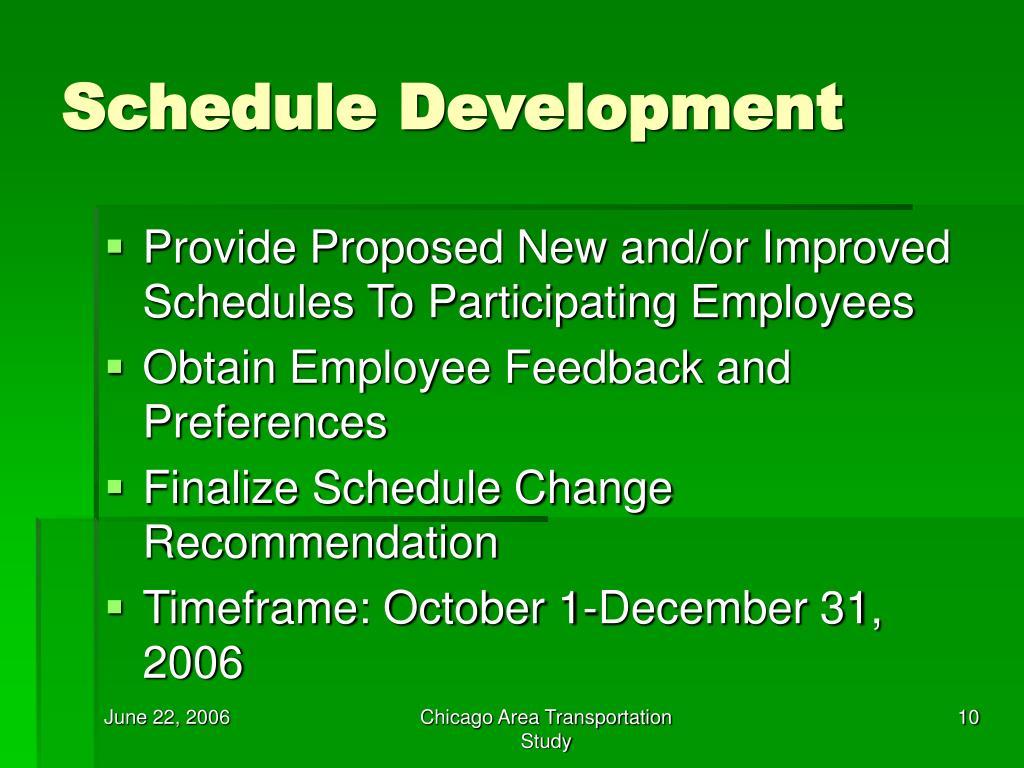 Schedule Development