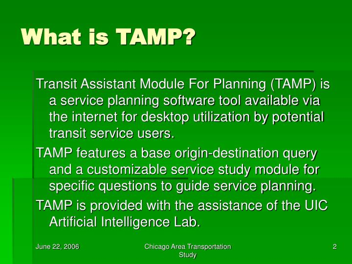 What is tamp