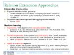 relation extraction approaches