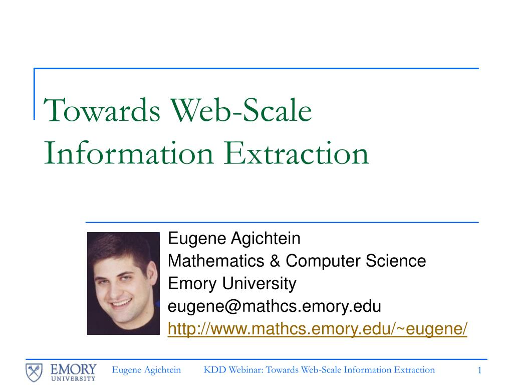 towards web scale information extraction l.