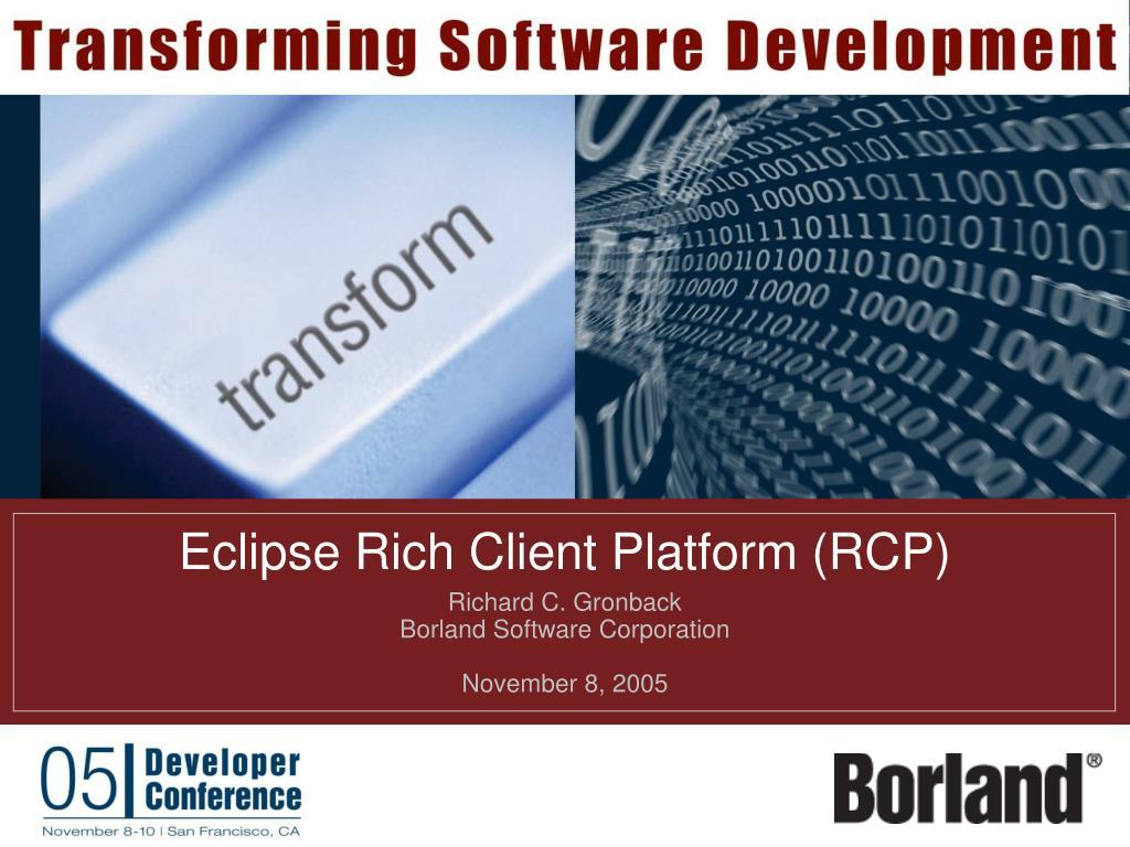 eclipse rich client platform rcp l.