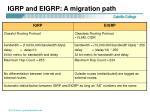 igrp and eigrp a migration path