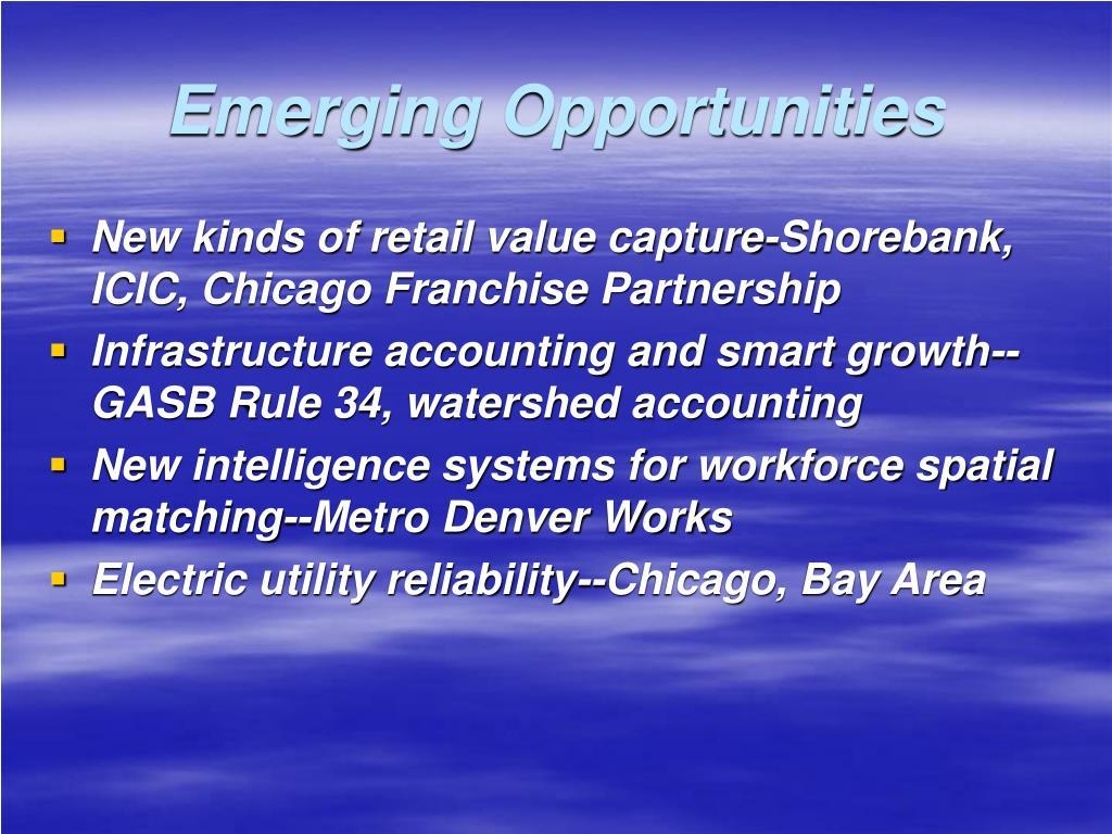Emerging Opportunities