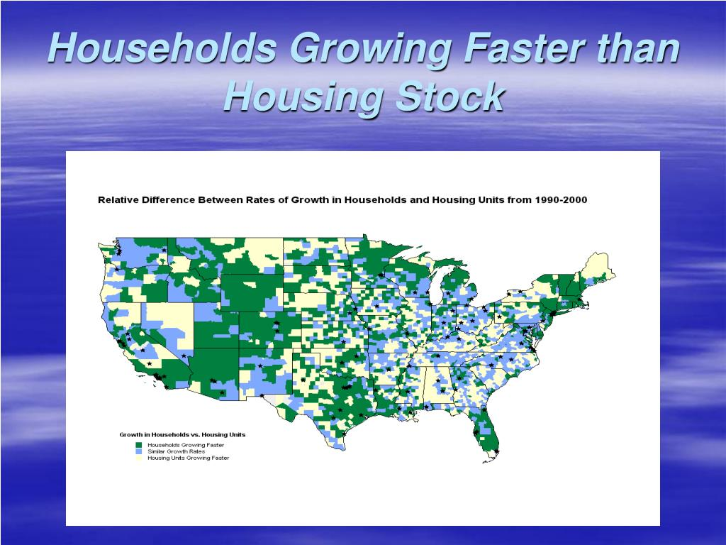 Households Growing Faster than Housing Stock