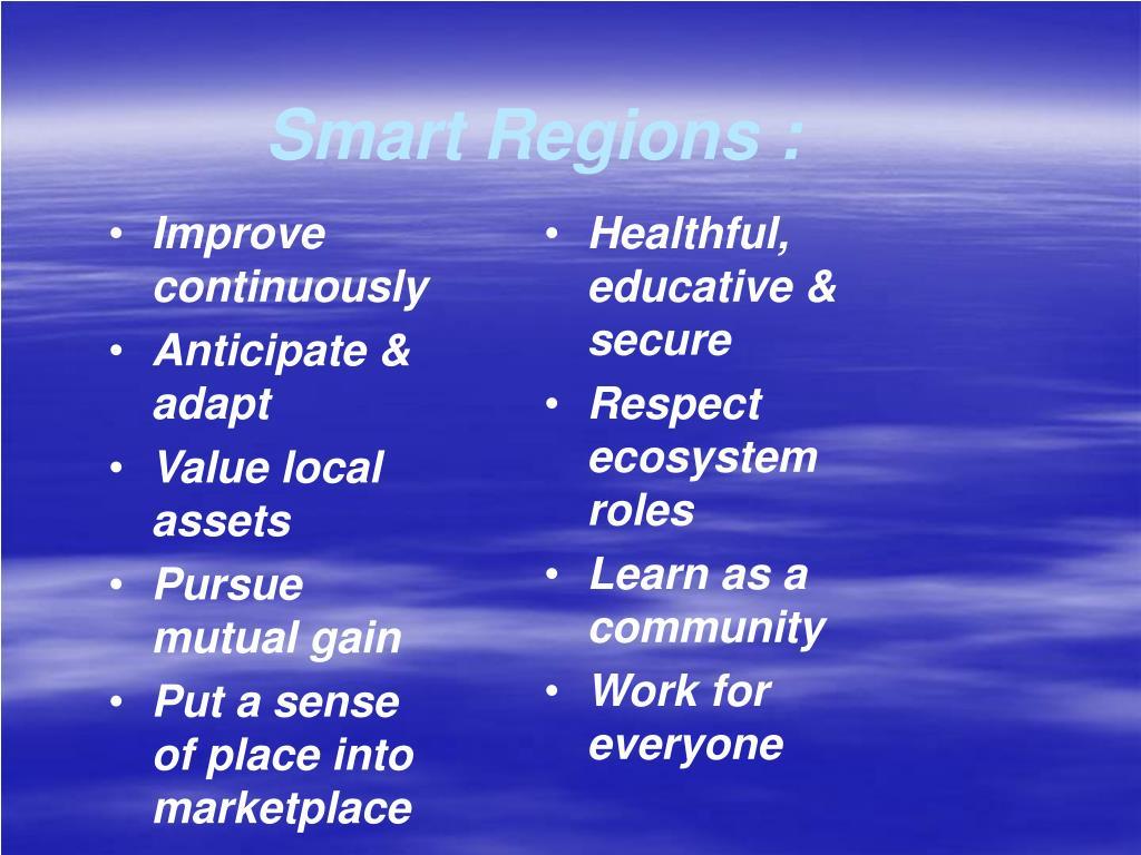 Smart Regions :