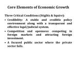 core elements of economic growth