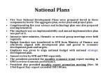 national plans