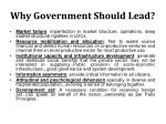 why government should lead