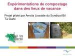 exp rimentations de compostage dans des lieux de vacance