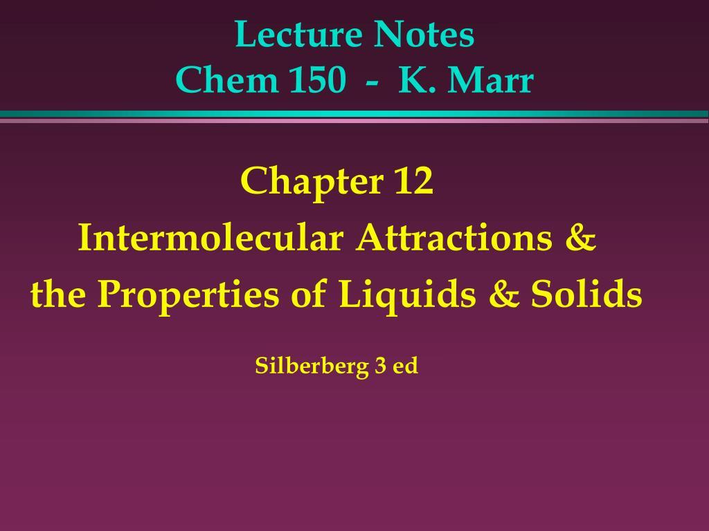 lecture notes chem 150 k marr l.