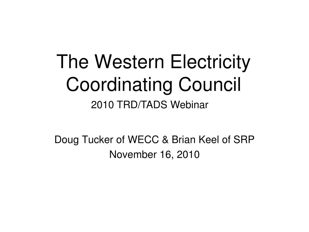 the western electricity coordinating council l.