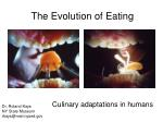 the evolution of eating