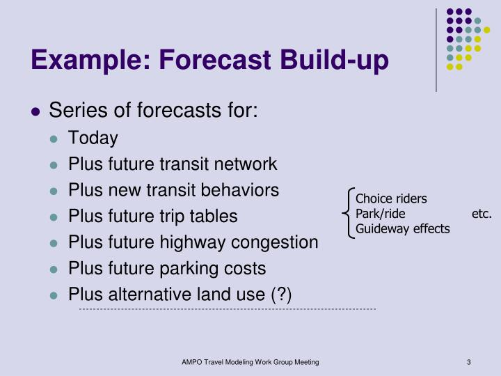 Example forecast build up