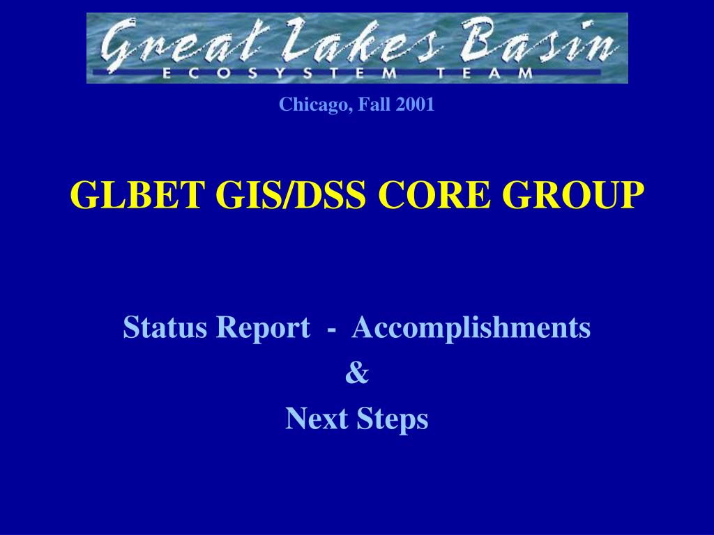 GLBET GIS/DSS CORE GROUP