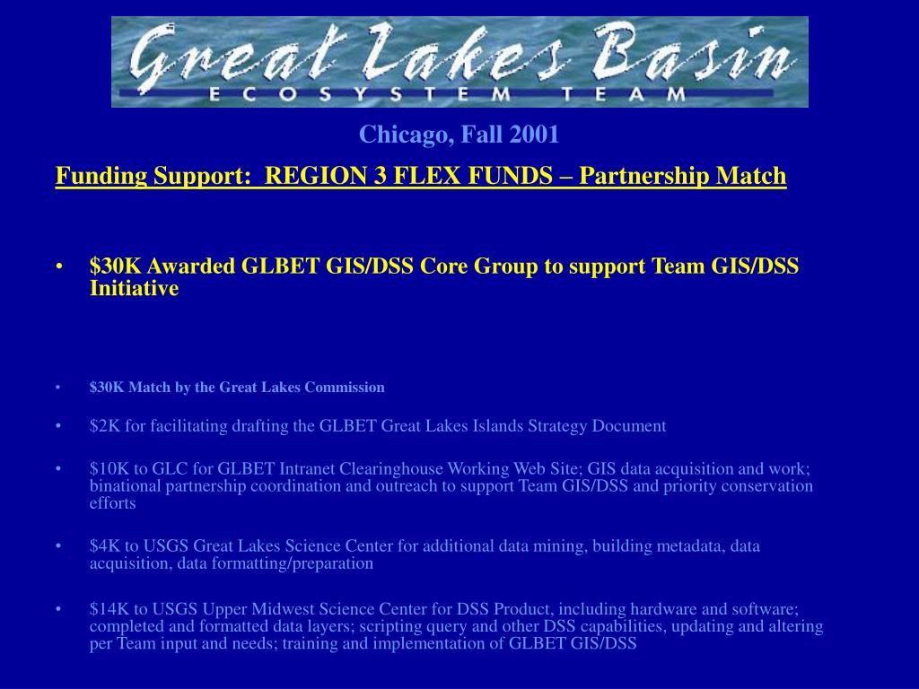Funding Support:  REGION 3 FLEX FUNDS – Partnership Match