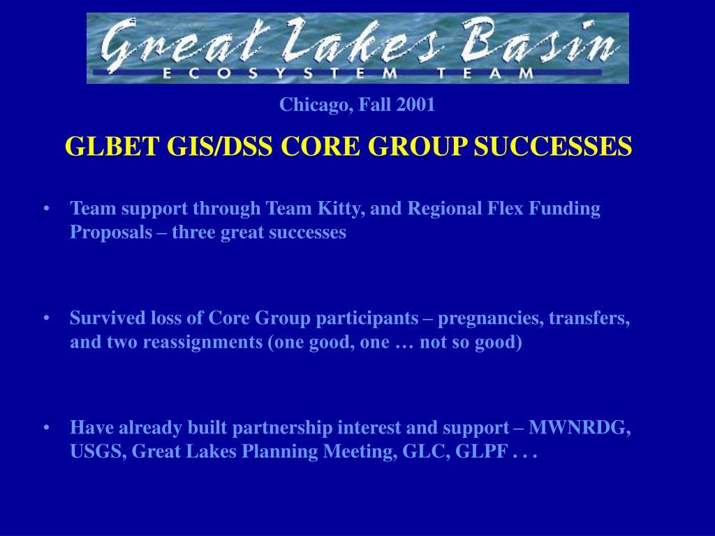 GLBET GIS/DSS CORE GROUP SUCCESSES