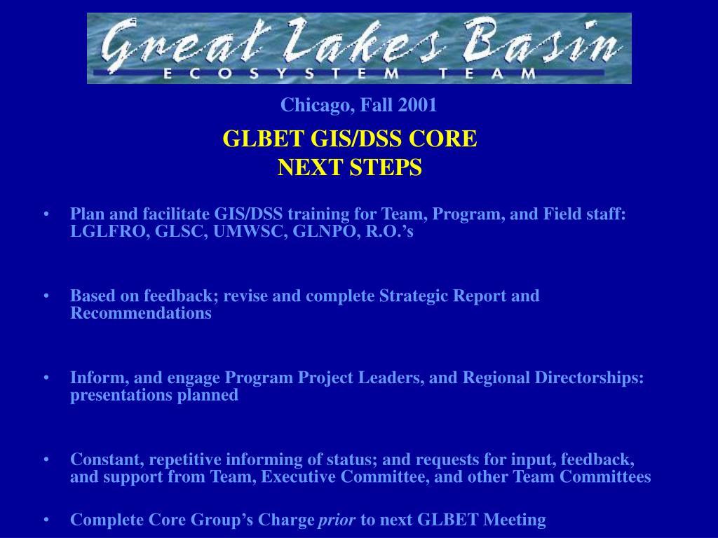 GLBET GIS/DSS CORE