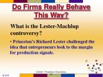 do firms really behave this way