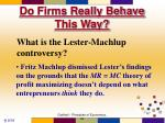 do firms really behave this way67