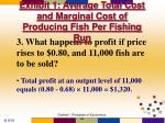 exhibit 1 average total cost and marginal cost of producing fish per fishing run13