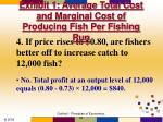 exhibit 1 average total cost and marginal cost of producing fish per fishing run14